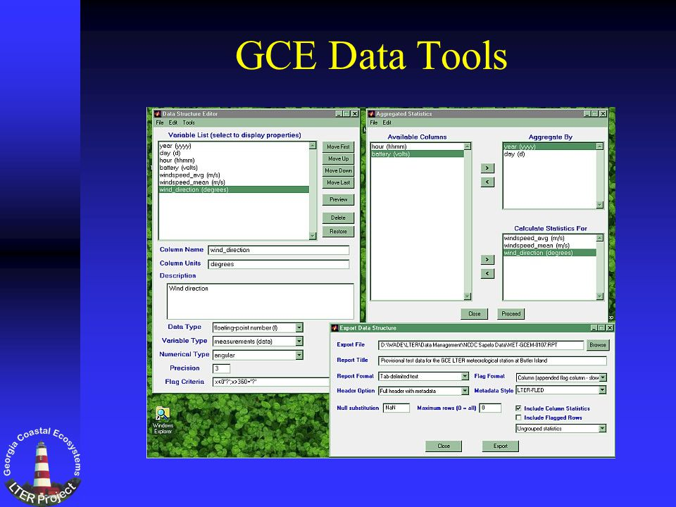 GCE Data Tools
