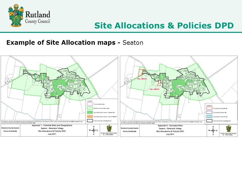 Example of Site Allocation maps - Seaton