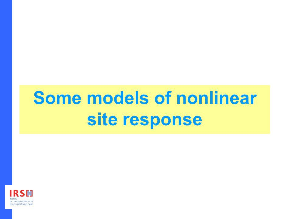 Some models of nonlinear site response