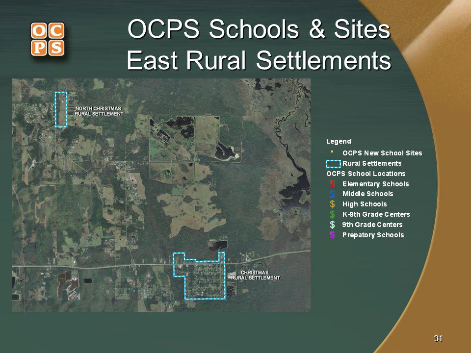 3131 OCPS Schools & Sites East Rural Settlements