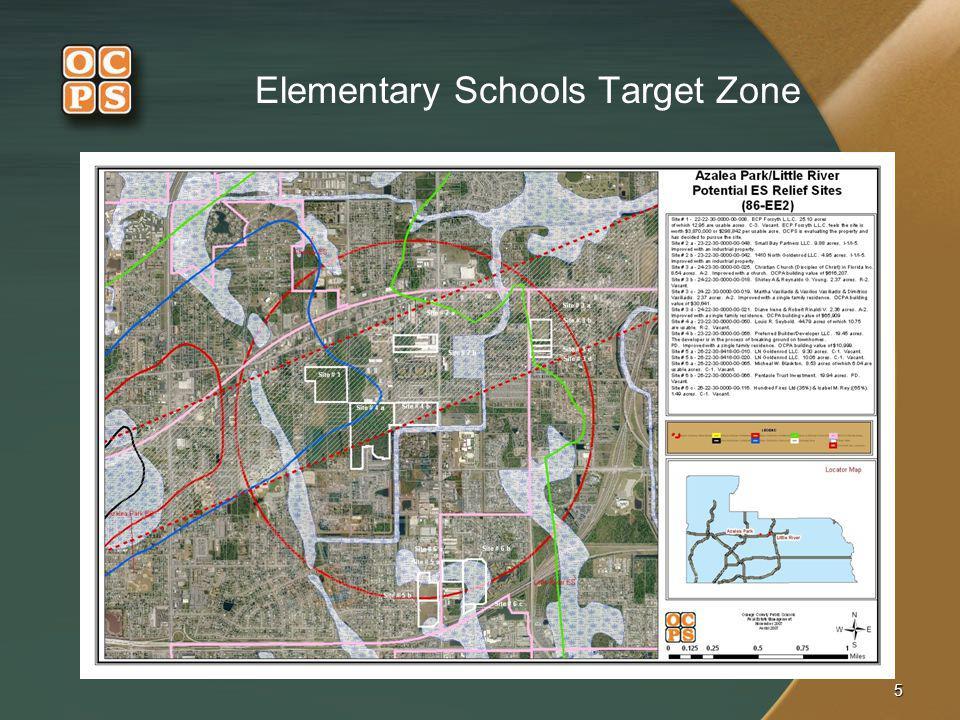 5 Elementary Schools Target Zone