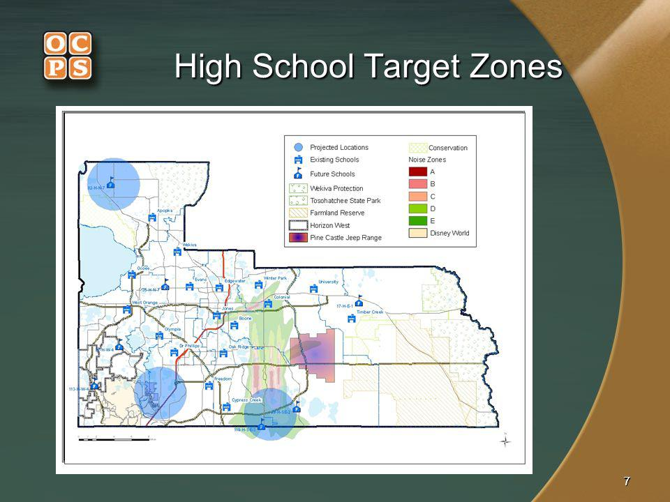 77 High School Target Zones