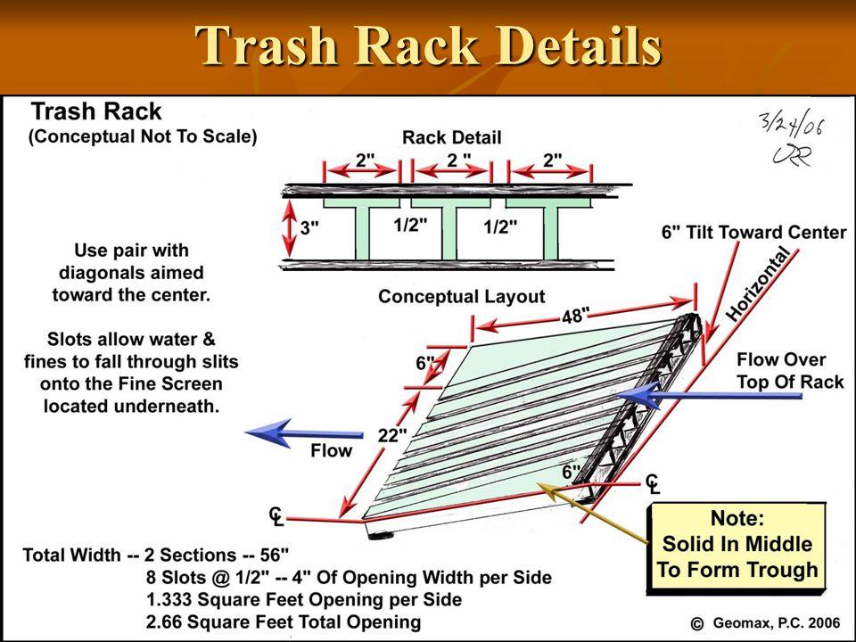 Trash Rack Details