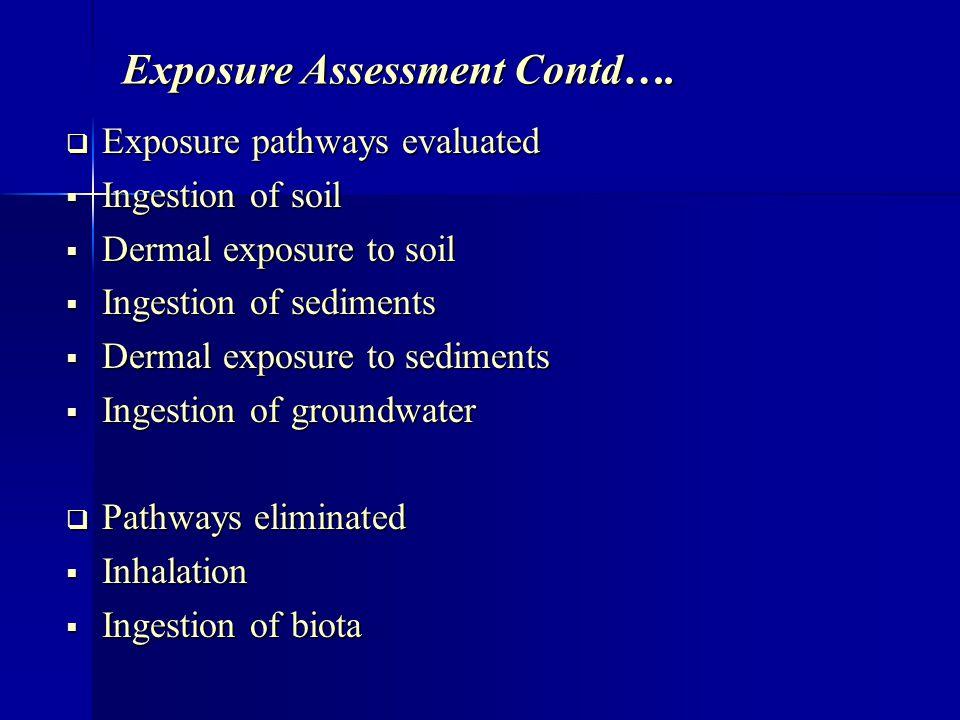 Exposure Assessment Contd….