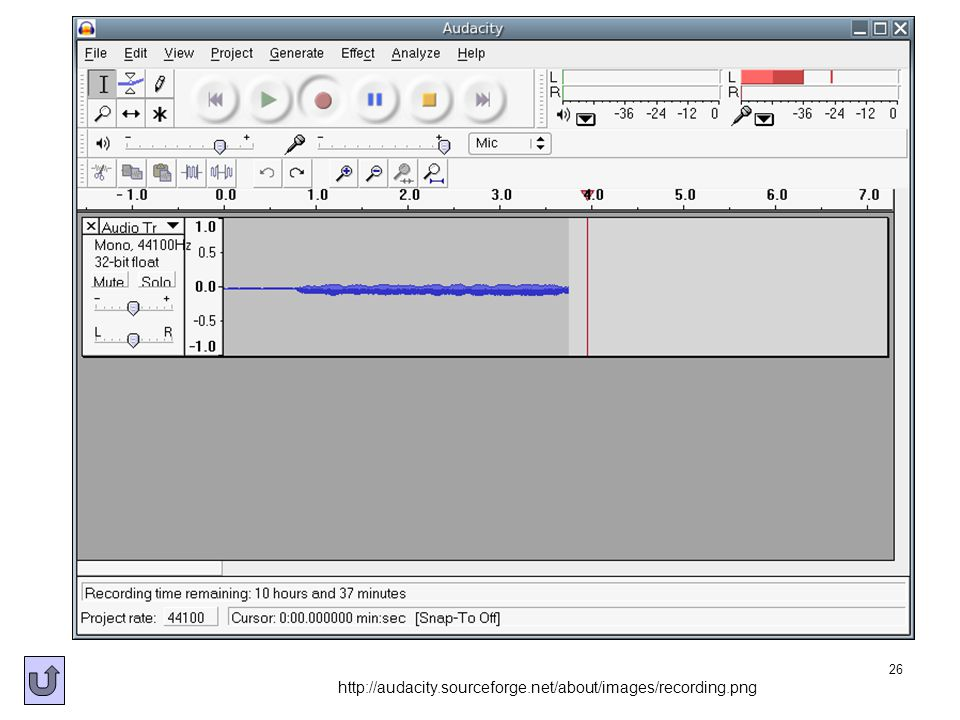 26 http://audacity.sourceforge.net/about/images/recording.png