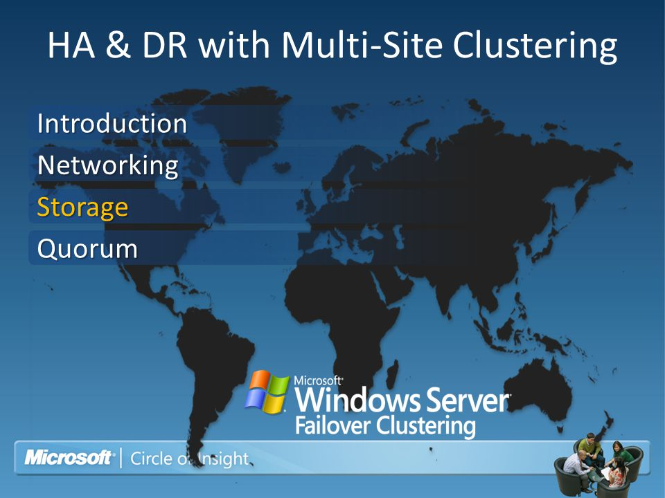 HA & DR with Multi-Site Clustering Introduction Networking Storage Quorum