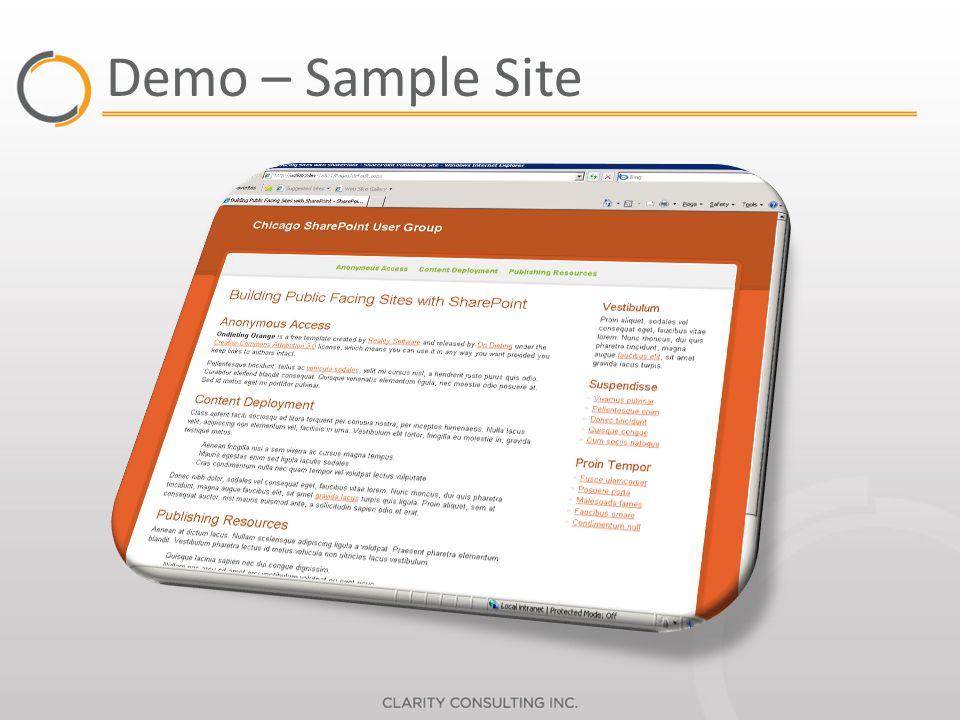 Demo – Sample Site