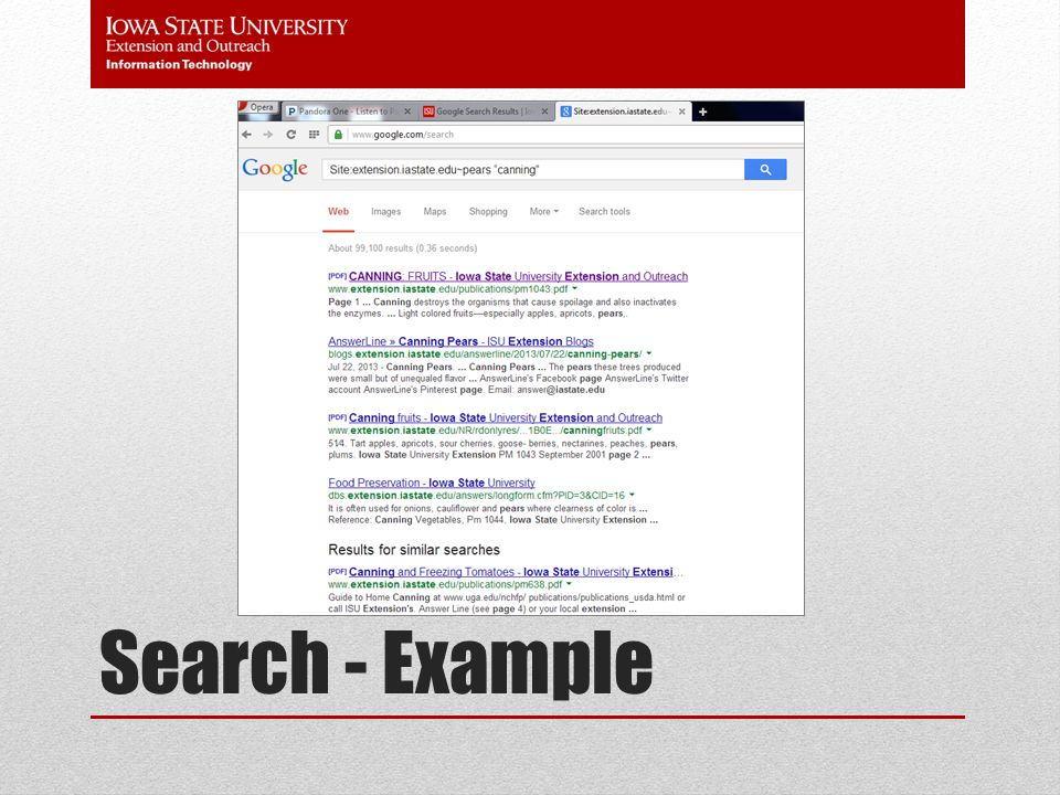 Search - Example