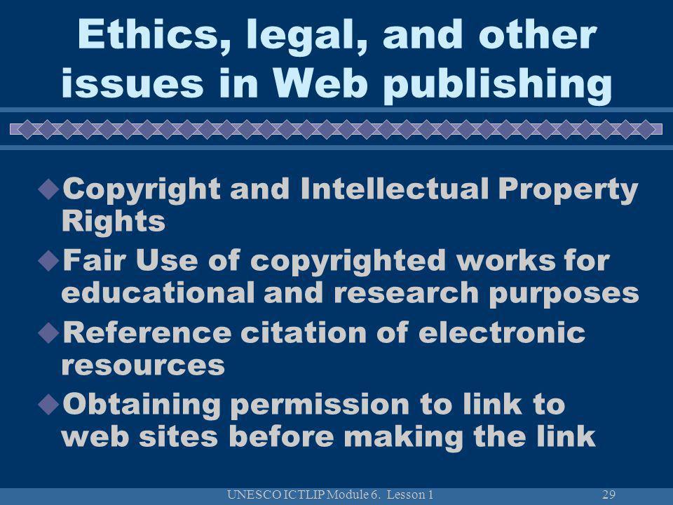 UNESCO ICTLIP Module 6.