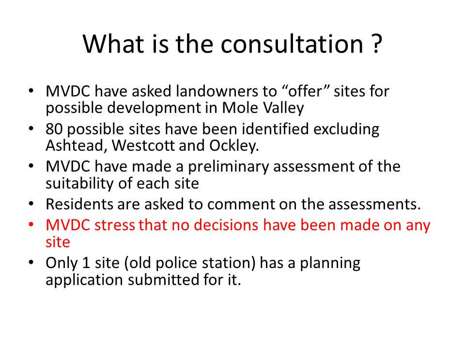 What is the consultation .