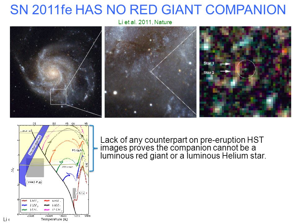 Li et al. (2011) (arXiv) SN 2011fe HAS NO RED GIANT COMPANION Li et al.