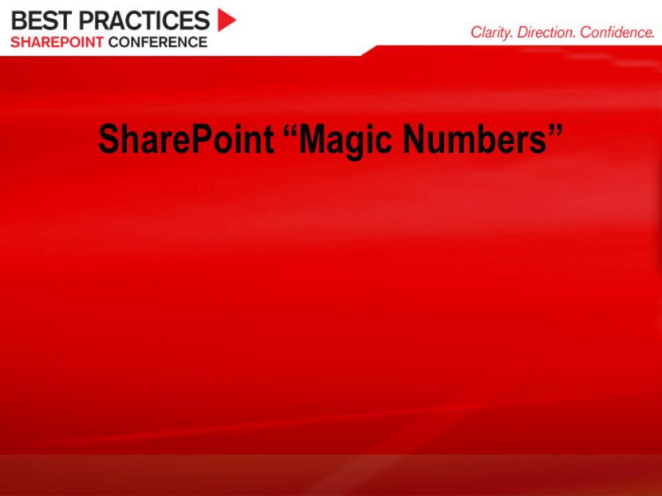 SharePoint Magic Numbers