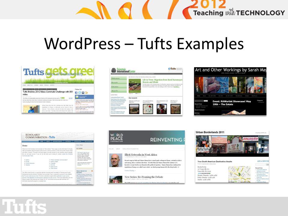 WordPress – Tufts Examples