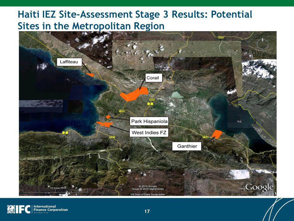 17 Haiti IEZ Site-Assessment Stage 3 Results: Potential Sites in the Metropolitan Region