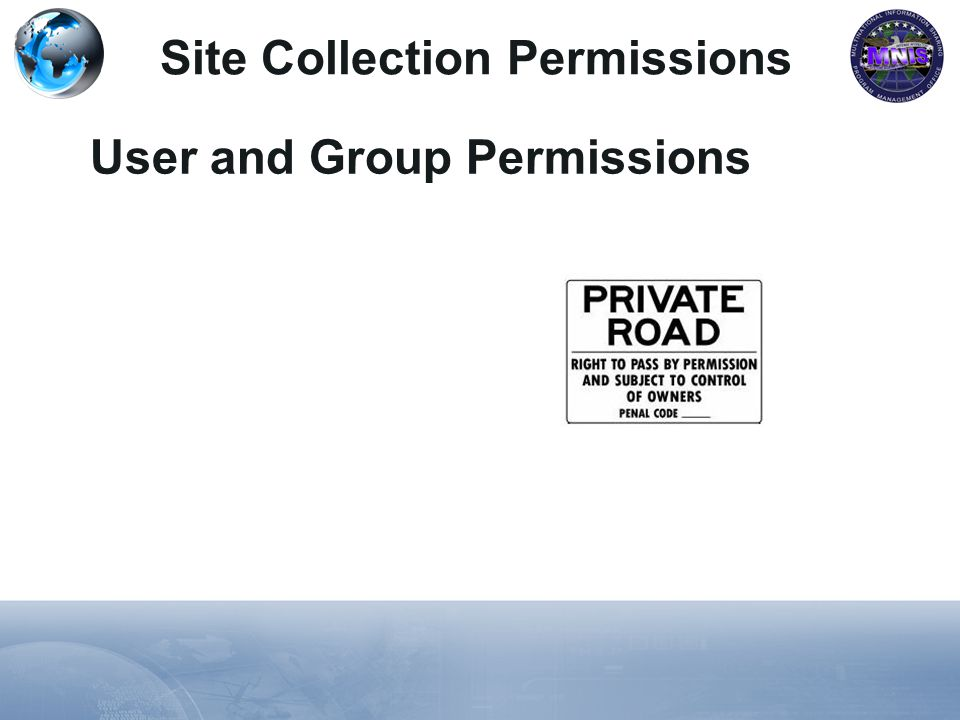 Site Collection Permissions User and Group Permissions
