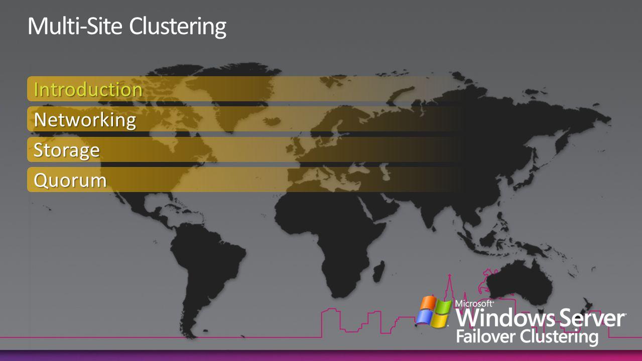Introduction Networking Storage Quorum