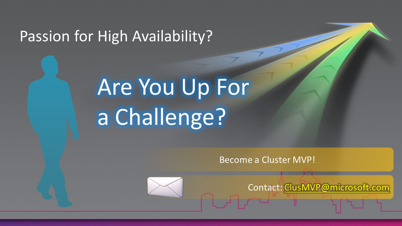 Passion for High Availability Become a Cluster MVP!