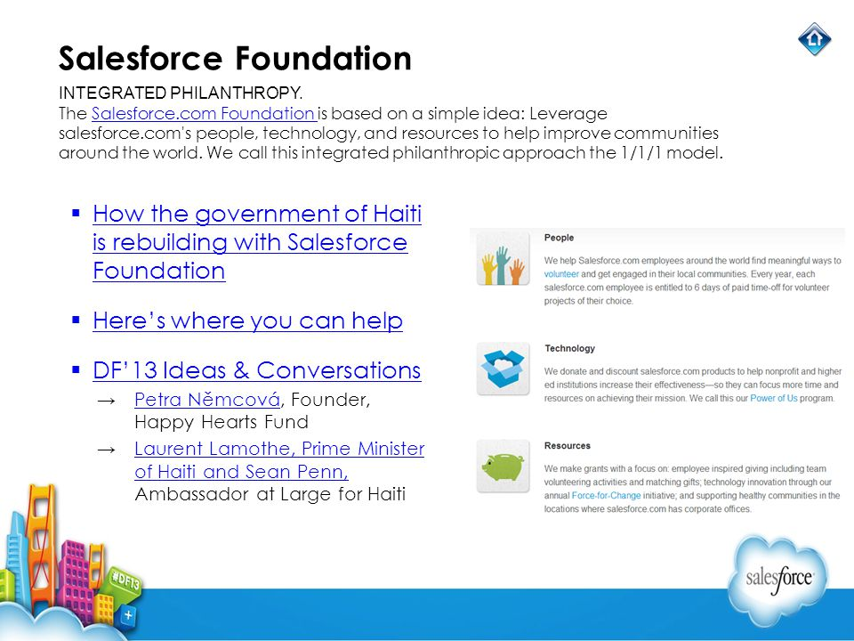Salesforce Foundation How the government of Haiti is rebuilding with Salesforce Foundation How the government of Haiti is rebuilding with Salesforce F