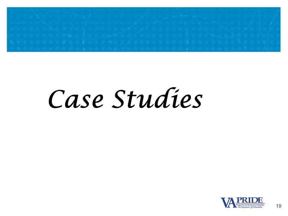19 Case Studies