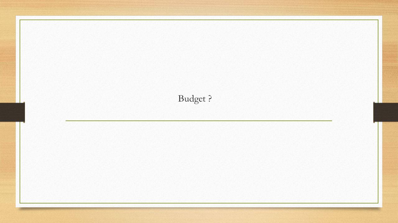 Budget ?