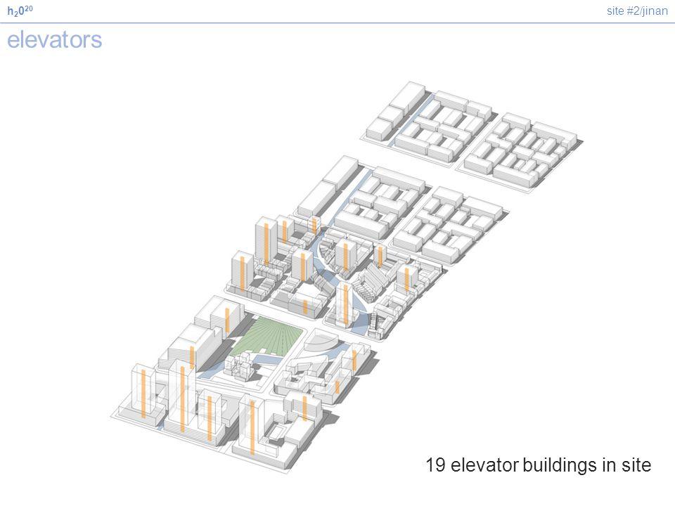 site #2/jinanh 2 0 20 elevators 19 elevator buildings in site