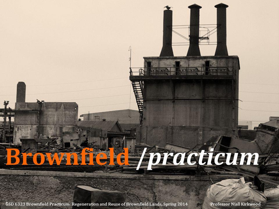 Brownfield /practicum GSD 6323 Brownfield Practicum: Regeneration and Reuse of Brownfield Lands, Spring 2014 Professor Niall Kirkwood