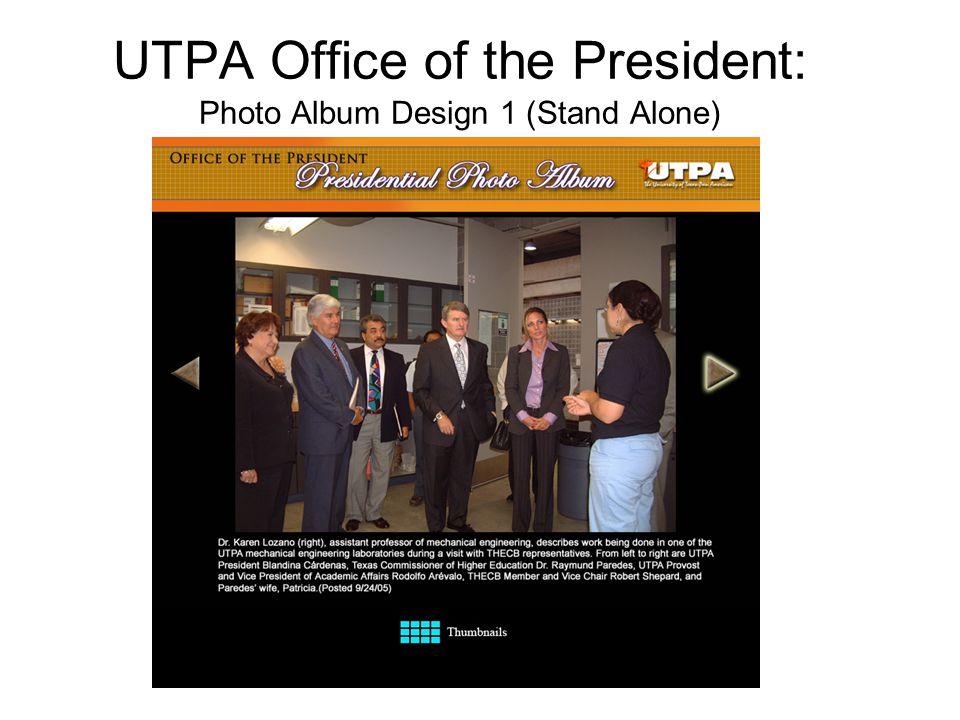 UTPA Office of the President: Photo Album Design 1 (Stand Alone)