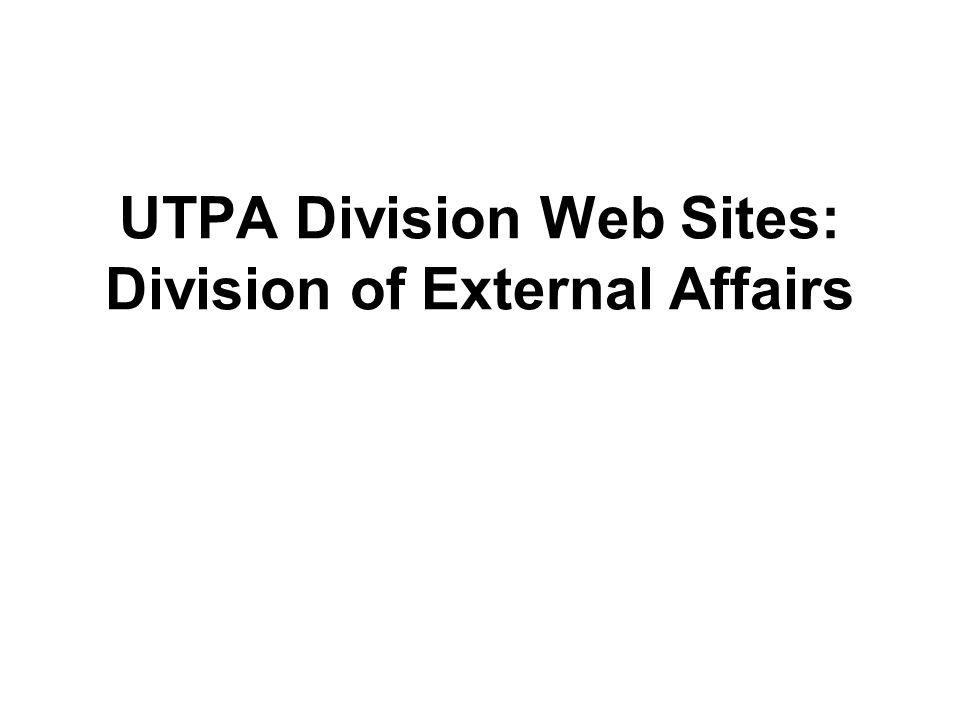 UTPA Division Web Sites: Division of External Affairs