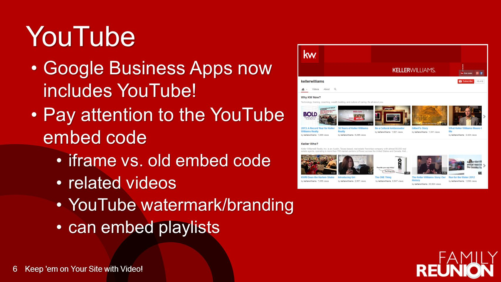 YouTube Google Business Apps now includes YouTube!Google Business Apps now includes YouTube! Pay attention to the YouTube embed codePay attention to t