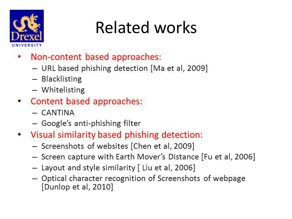 Contribution 1.We investigated vision techniques to detect phishing sites more robustly.