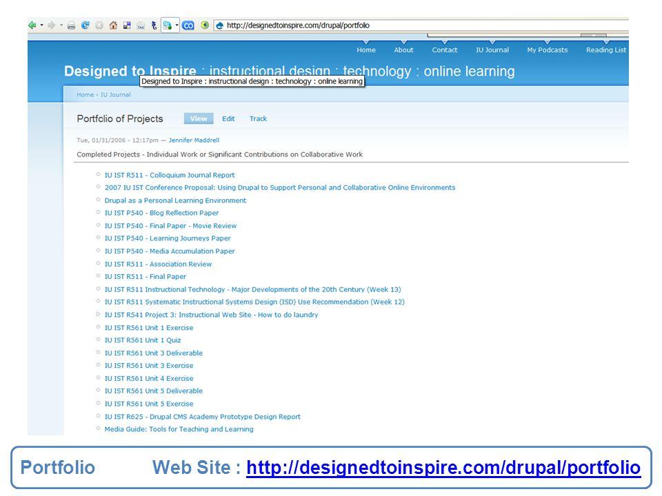 Portfolio Web Site : http://designedtoinspire.com/drupal/portfoliohttp://designedtoinspire.com/drupal/portfolio Portfolio Web Site : http://designedto