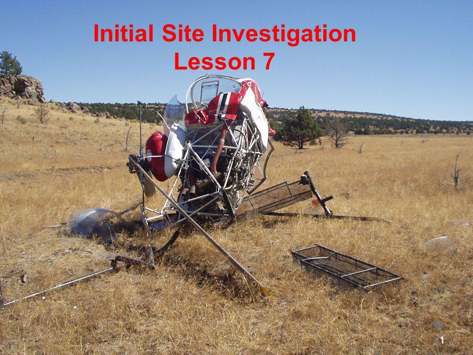 Initial Site Investigation Lesson 7 1