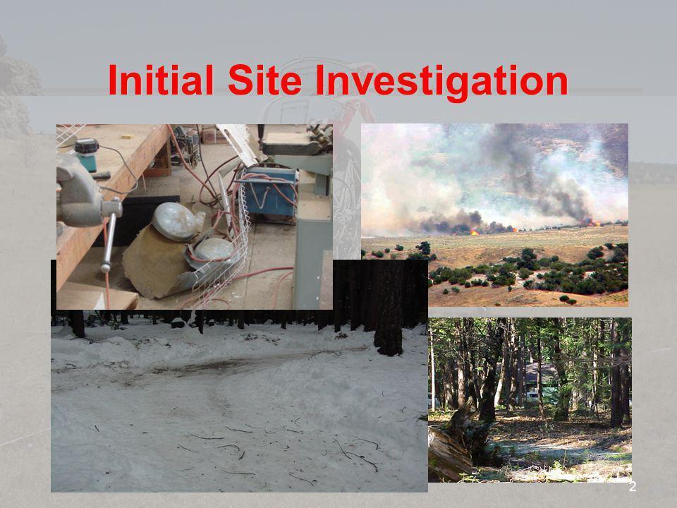 Initial Site Investigation 2