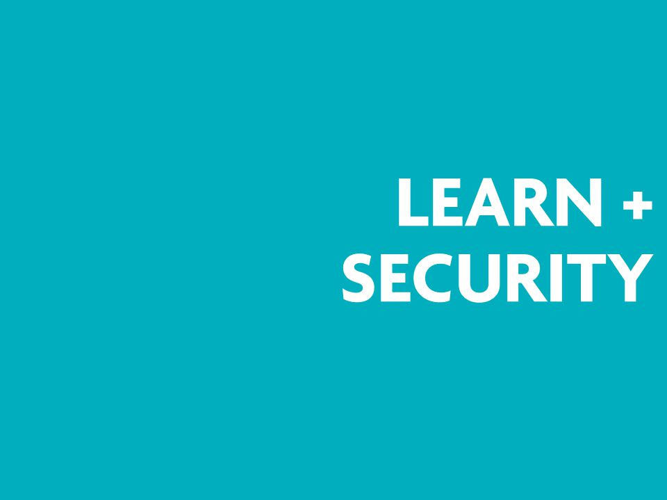 LEARN + SECURITY