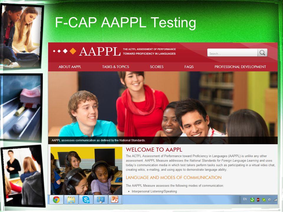F-CAP AAPPL Testing