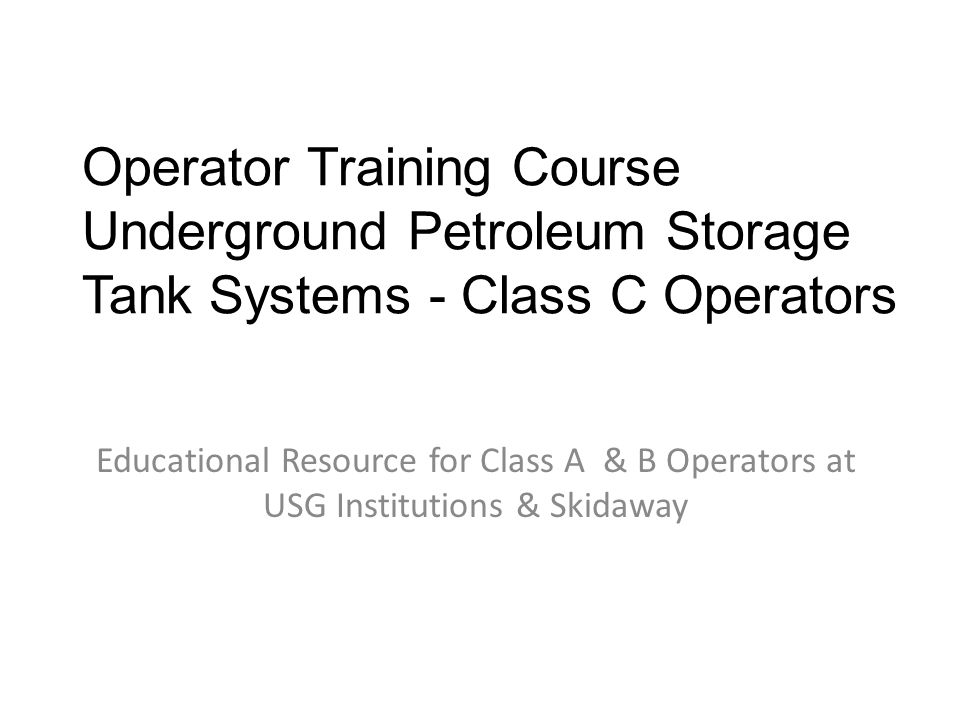 What should Class C Operators learn.