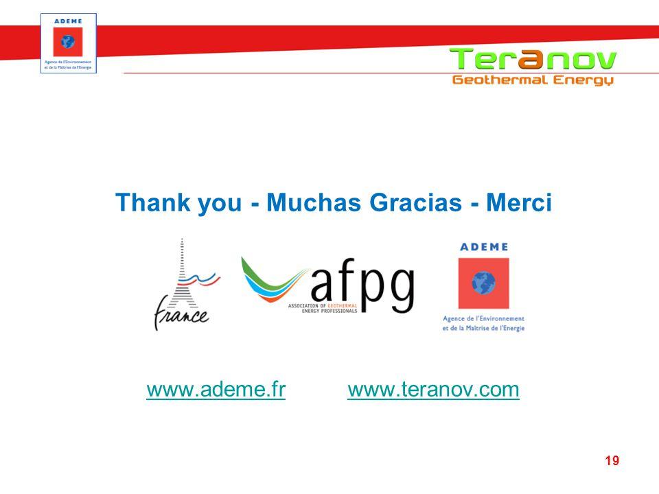 Thank you - Muchas Gracias - Merci www.ademe.frwww.ademe.fr www.teranov.comwww.teranov.com 19