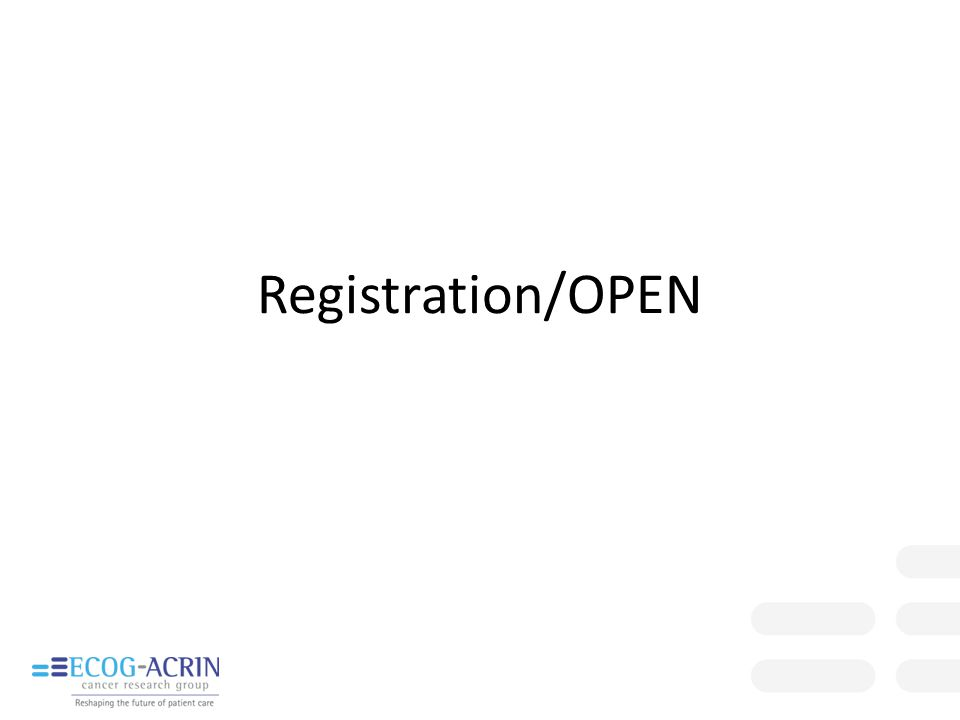 Registration/OPEN