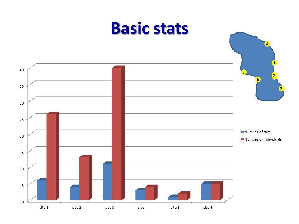 Basic stats 1 2 3 4 6 5