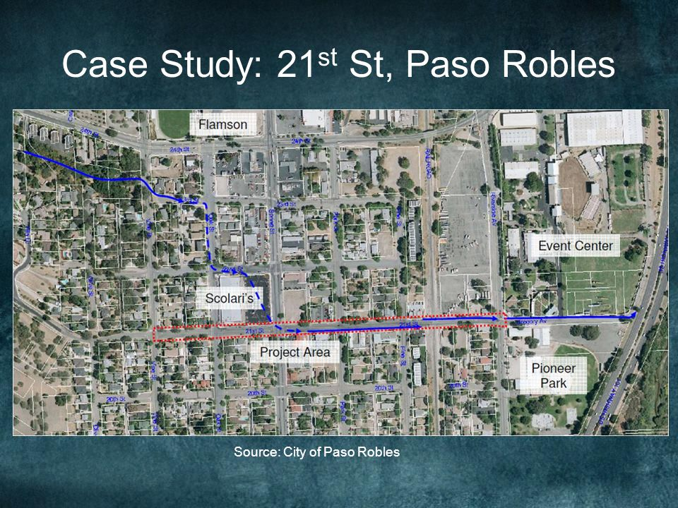 Case Study: 21 st St, Paso Robles Source: City of Paso Robles