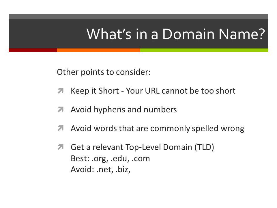 Whats in a Domain Name.