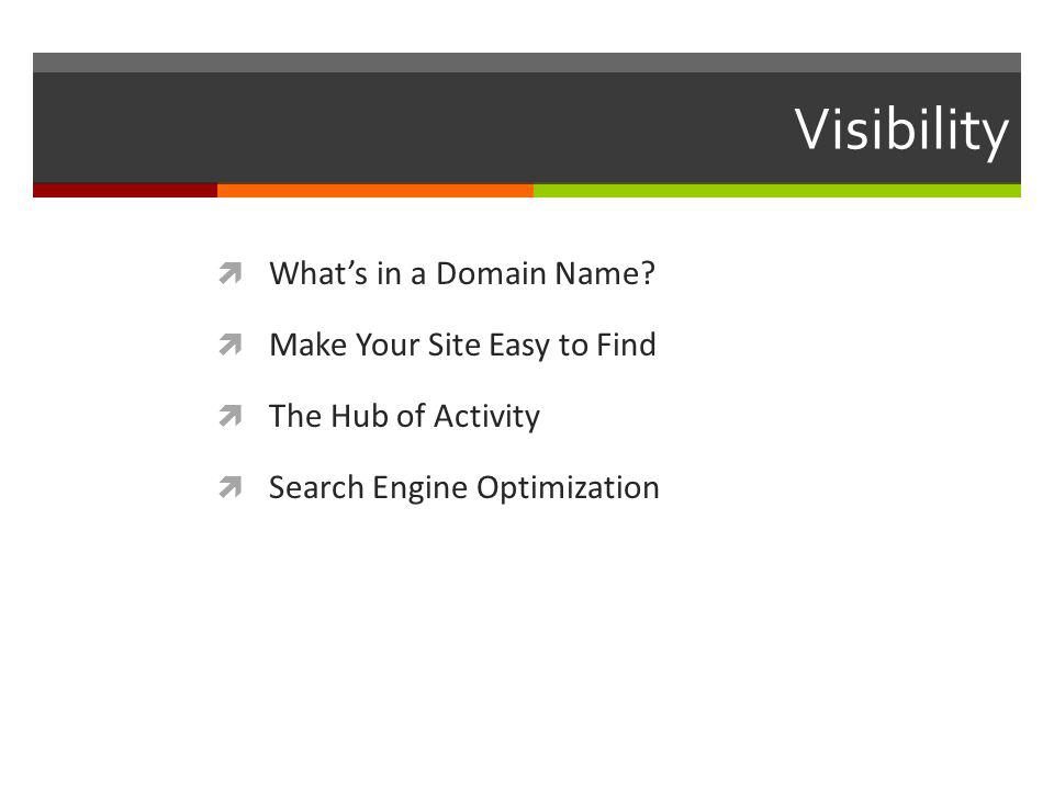 Visibility Whats in a Domain Name.