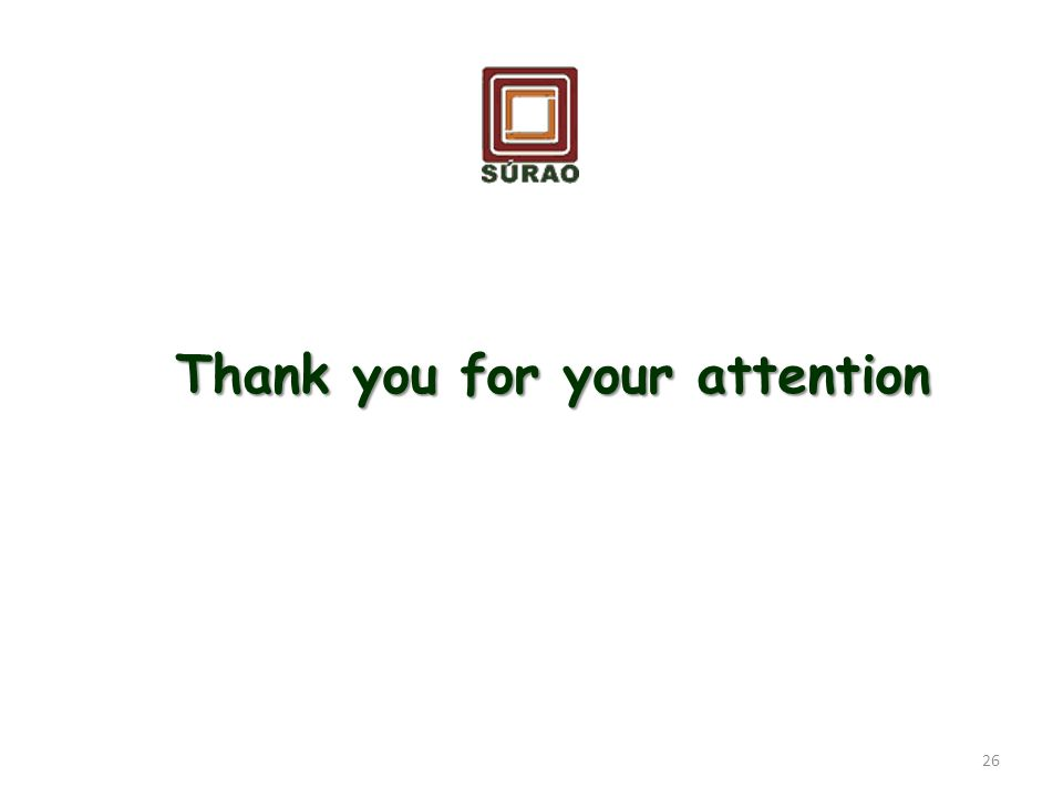 Thank you for your attention 26