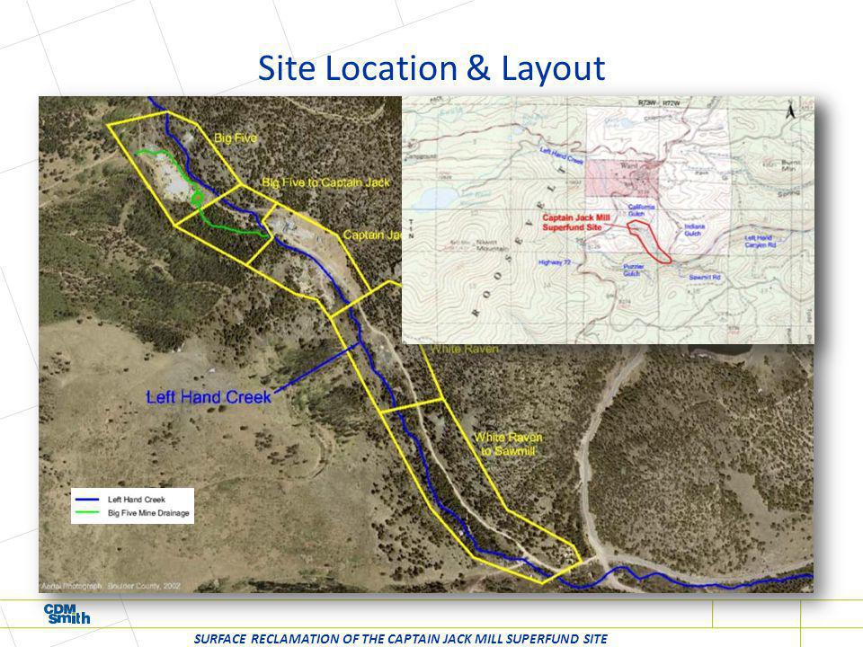 Erosion (Head-cutting), Stormwater & Adit Discharge (Infiltration), Direct Exposure Site Conditions - Big Five Mine Dump SURFACE RECLAMATION OF THE CAPTAIN JACK MILL SUPERFUND SITE
