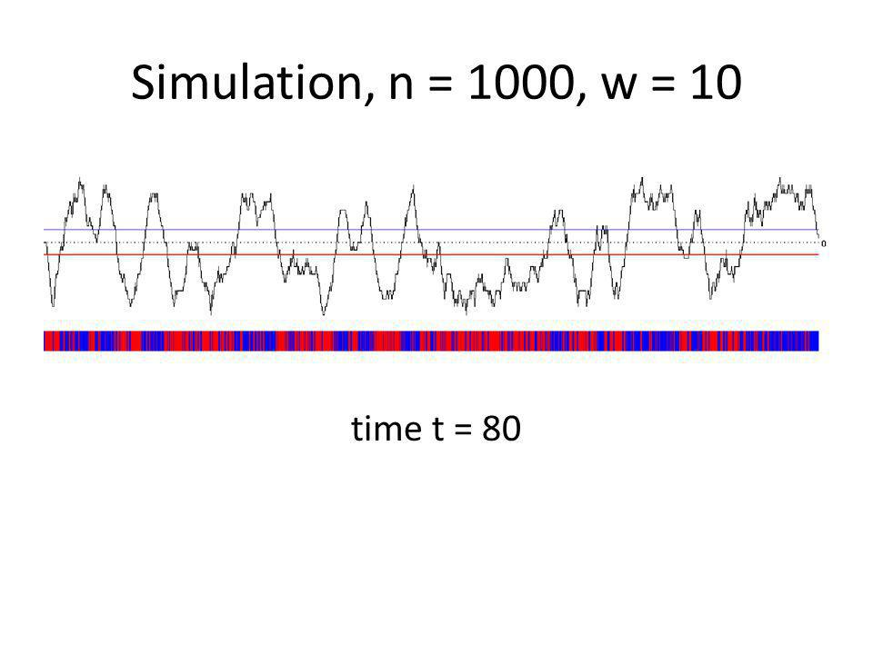time t = 80 Simulation, n = 1000, w = 10