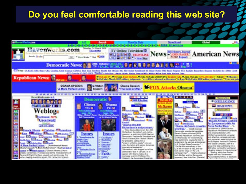 Do you feel comfortable reading this web site