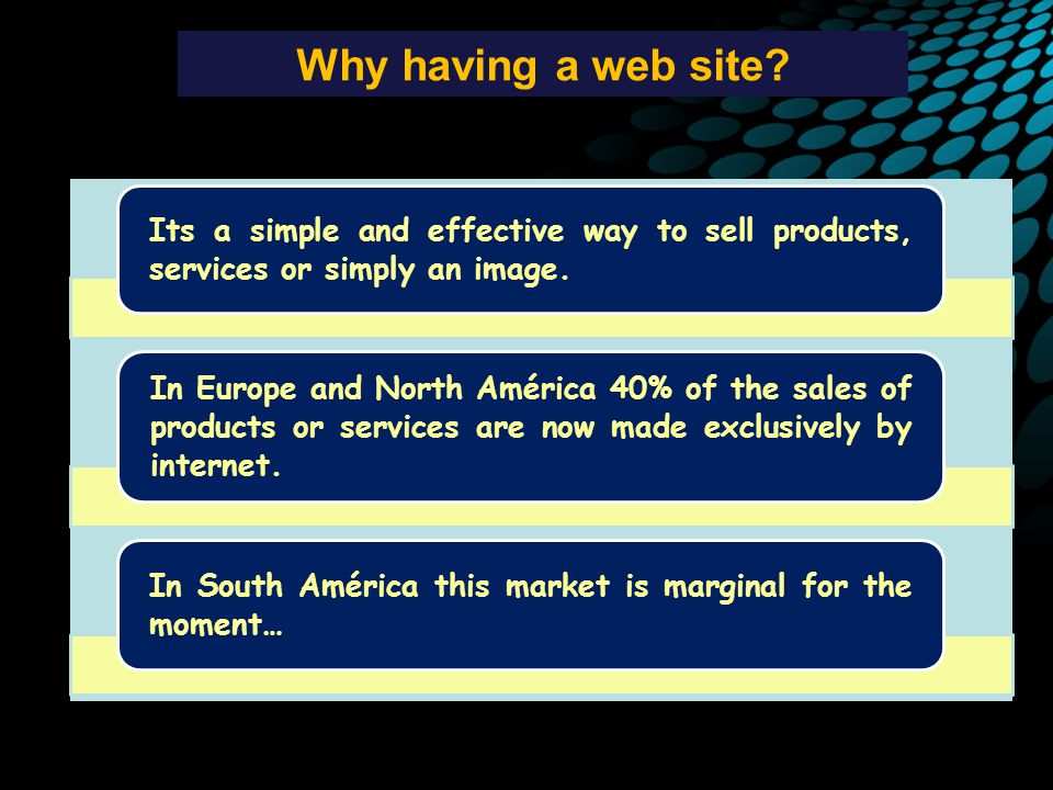 Why having a web site.