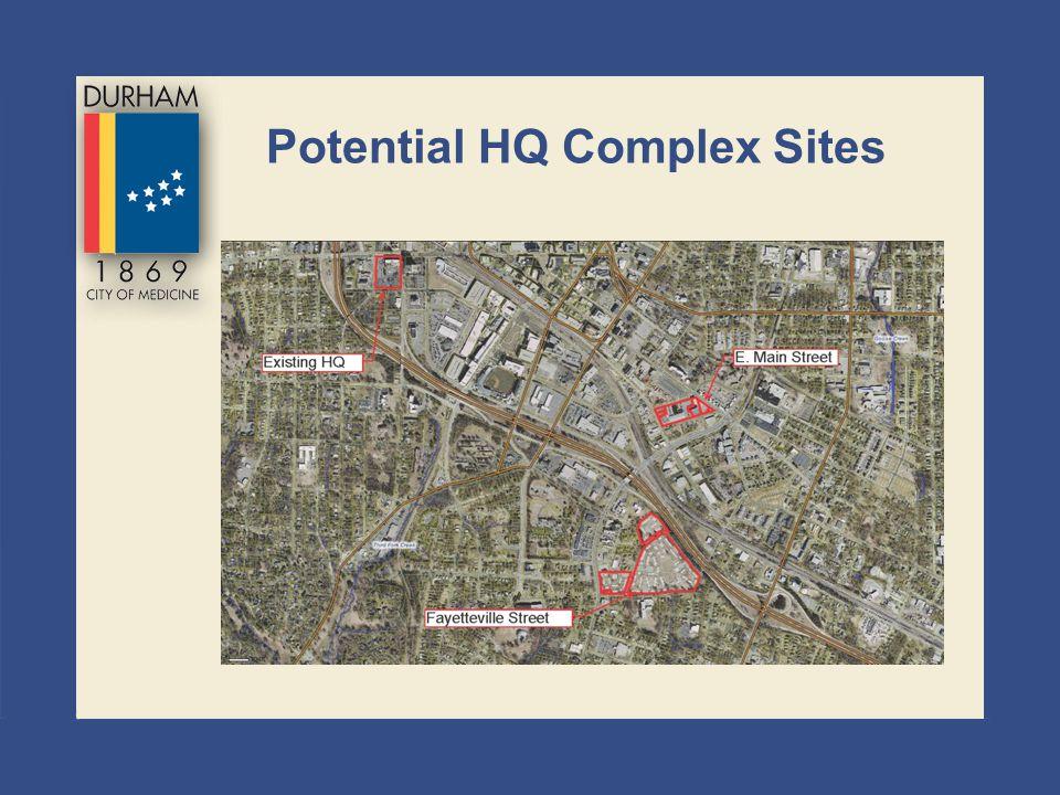 Potential HQ Complex Sites