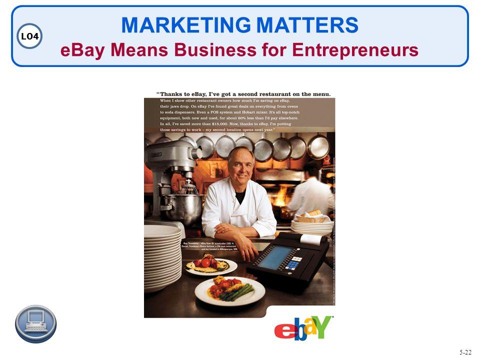 MARKETING MATTERS eBay Means Business for Entrepreneurs LO4 5-22