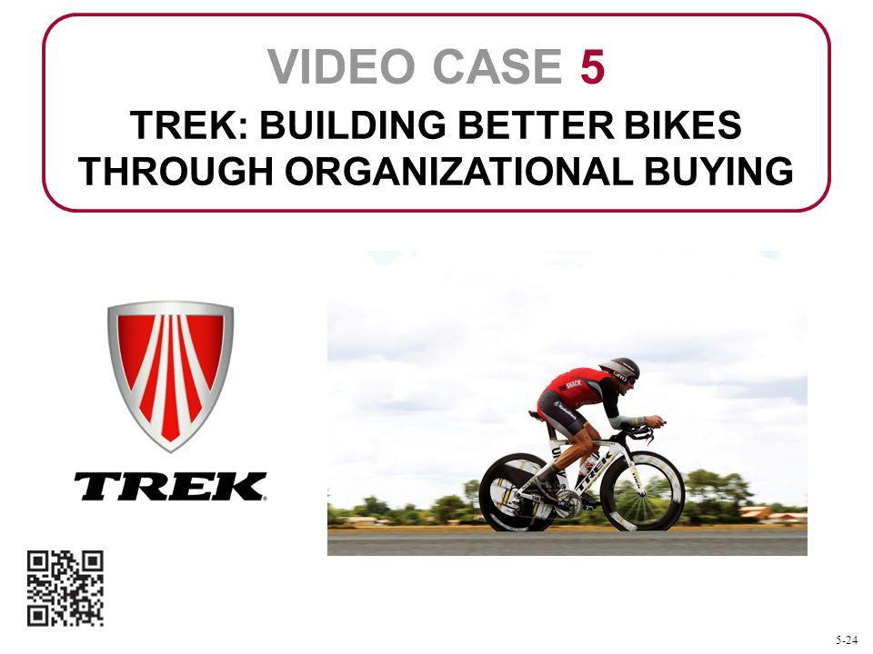 TREK: BUILDING BETTER BIKES THROUGH ORGANIZATIONAL BUYING VIDEO CASE 5 5-24